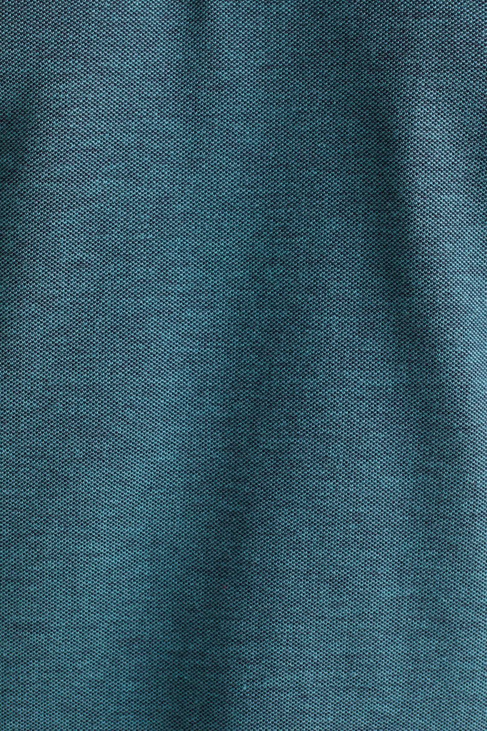 Piqué polo shirt made of 100% organic cotton, TEAL GREEN 2, detail image number 4