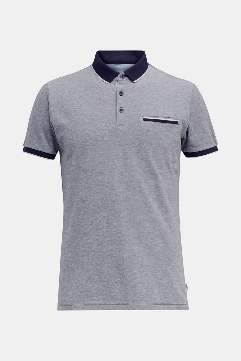 Piqué polo shirt, 100% organic cotton, NAVY 2, detail image number 7