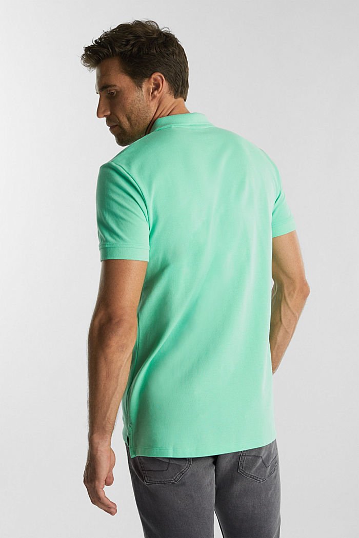 Piqué polo shirt made of 100% organic cotton, LIGHT GREEN, detail image number 3