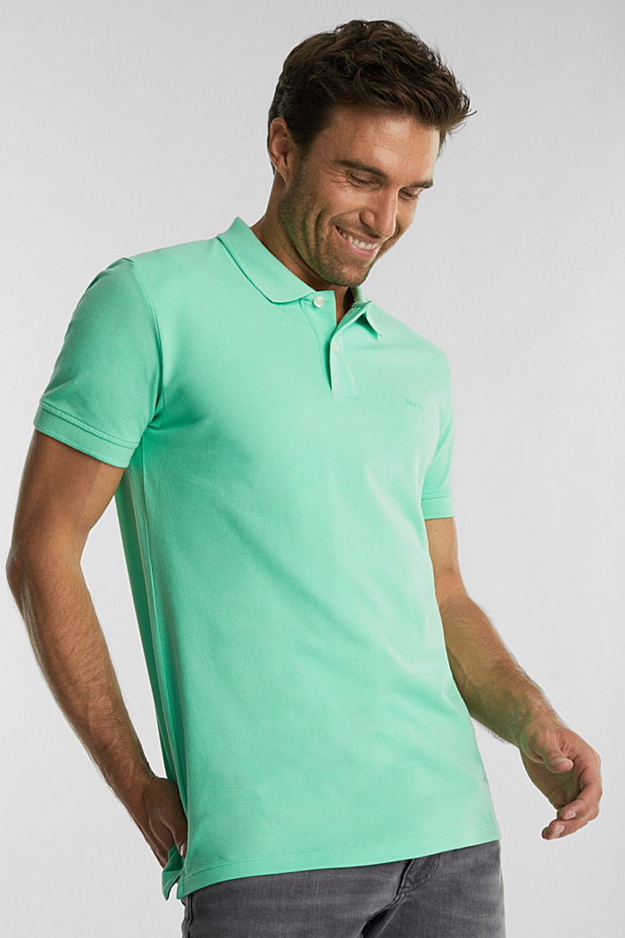 Piqué polo shirt made of 100% organic cotton, LIGHT GREEN, detail image number 4