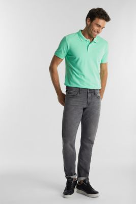 Piqué polo shirt made of 100% organic cotton, LIGHT GREEN, detail