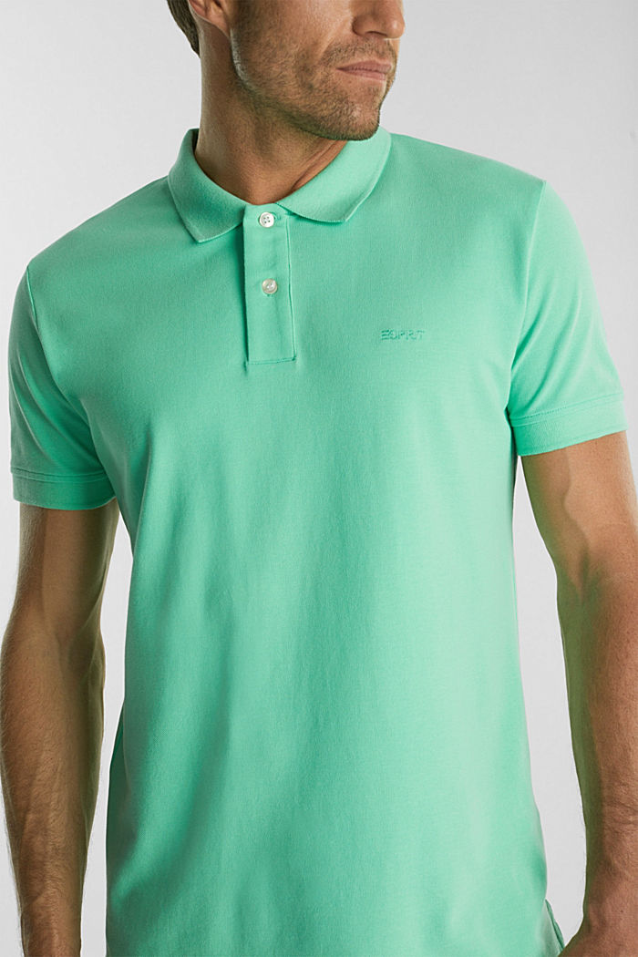 Piqué polo shirt made of 100% organic cotton, LIGHT GREEN, detail image number 1