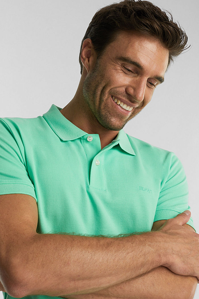 Piqué polo shirt made of 100% organic cotton, LIGHT GREEN, detail image number 6