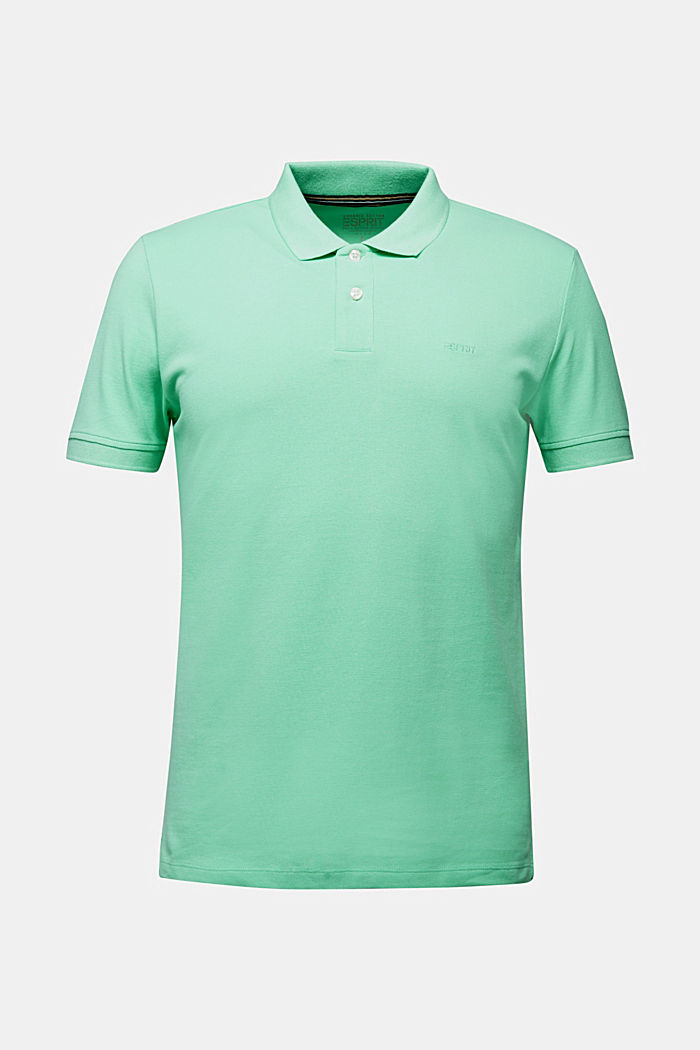 Piqué polo shirt made of 100% organic cotton, LIGHT GREEN, detail image number 7