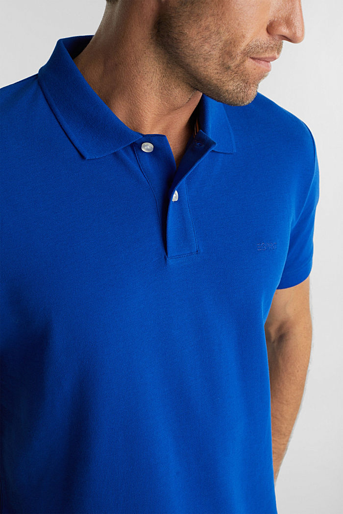 Piqué polo shirt made of 100% organic cotton, BRIGHT BLUE, detail image number 1