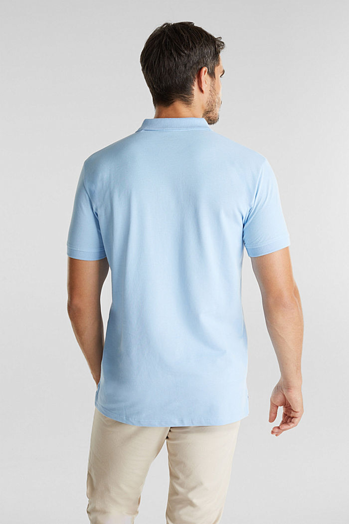 Piqué polo shirt made of 100% organic cotton, LIGHT BLUE, detail image number 3