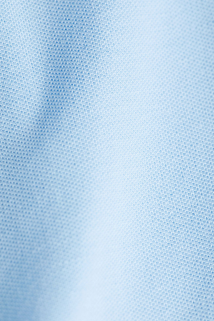 Piqué polo shirt made of 100% organic cotton, LIGHT BLUE, detail image number 4