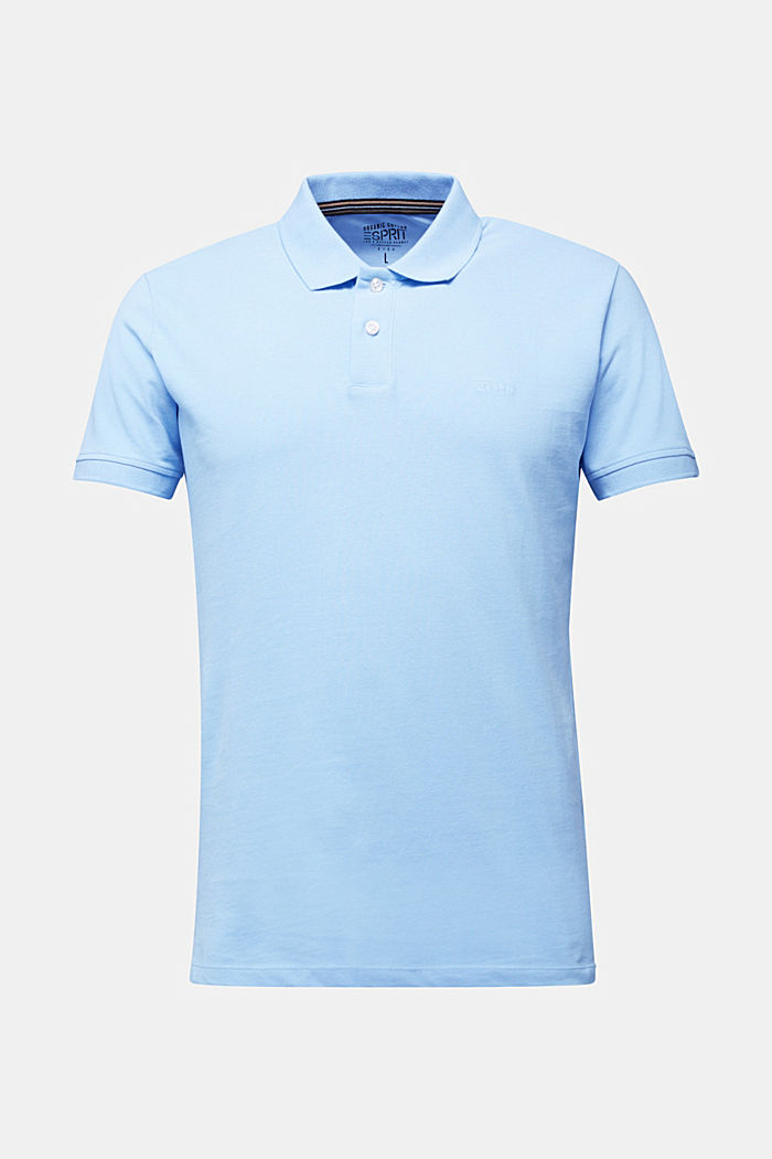 Piqué polo shirt made of 100% organic cotton, LIGHT BLUE, detail image number 6
