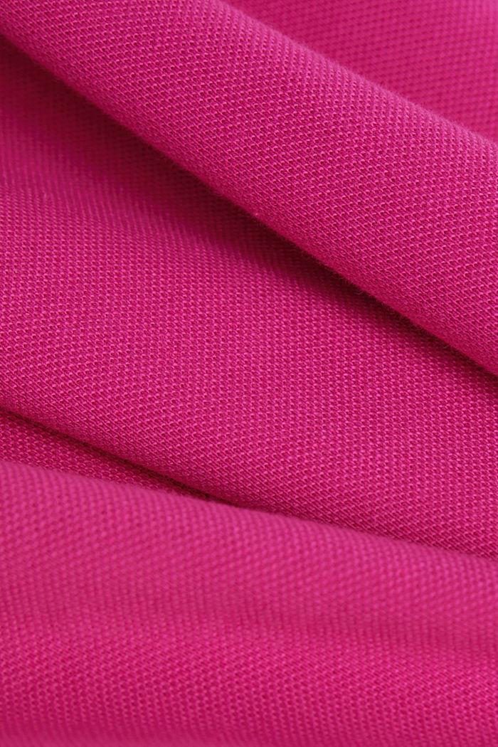 Piqué-Poloshirt aus 100% Organic Cotton, PINK FUCHSIA, detail image number 4