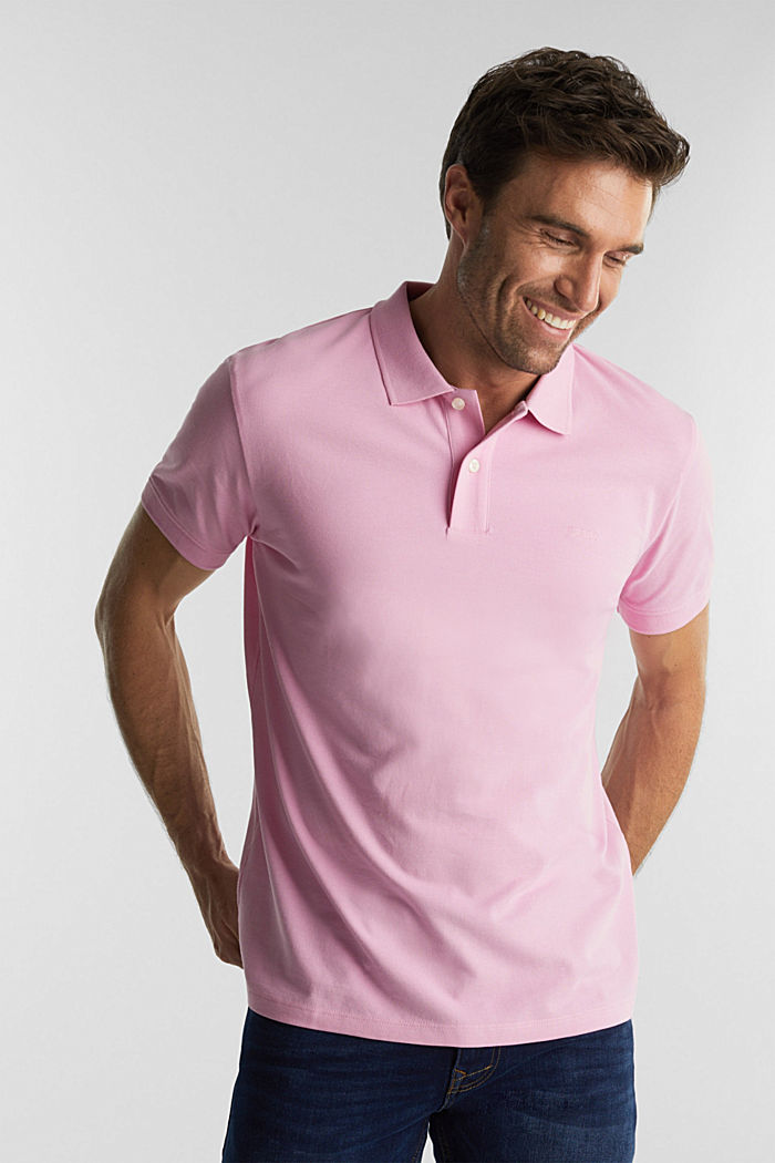 Piqué-Poloshirt aus 100% Organic Cotton, LIGHT PINK, detail image number 0