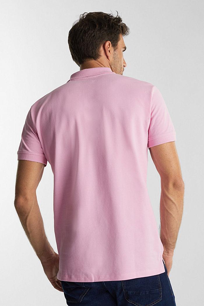 Piqué-Poloshirt aus 100% Organic Cotton, LIGHT PINK, detail image number 3