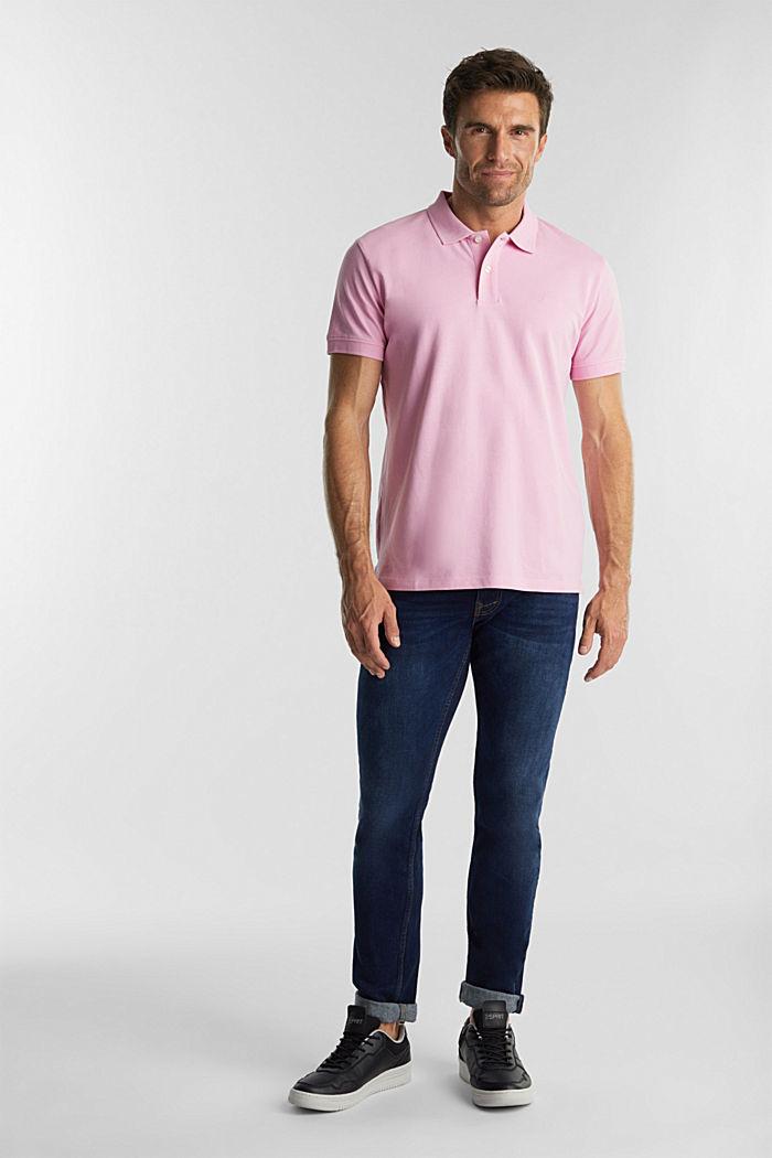 Piqué-Poloshirt aus 100% Organic Cotton, LIGHT PINK, detail image number 2