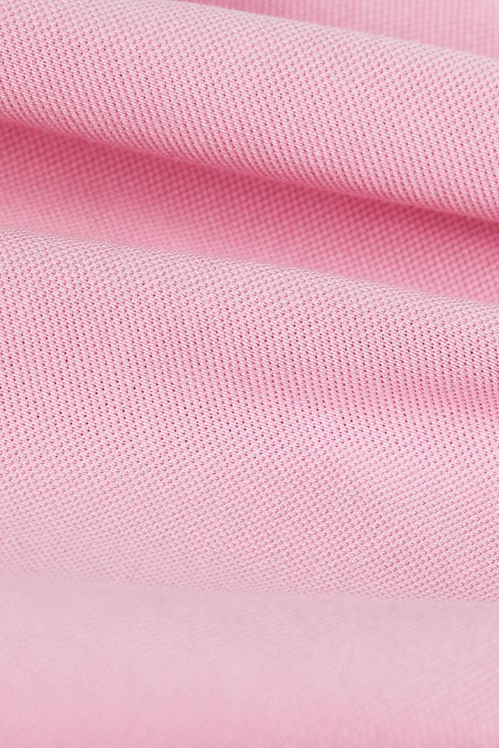 Piqué-Poloshirt aus 100% Organic Cotton, LIGHT PINK, detail image number 4