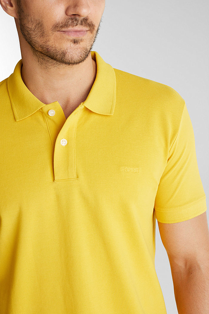 Piqué polo shirt made of 100% organic cotton, YELLOW, detail image number 1