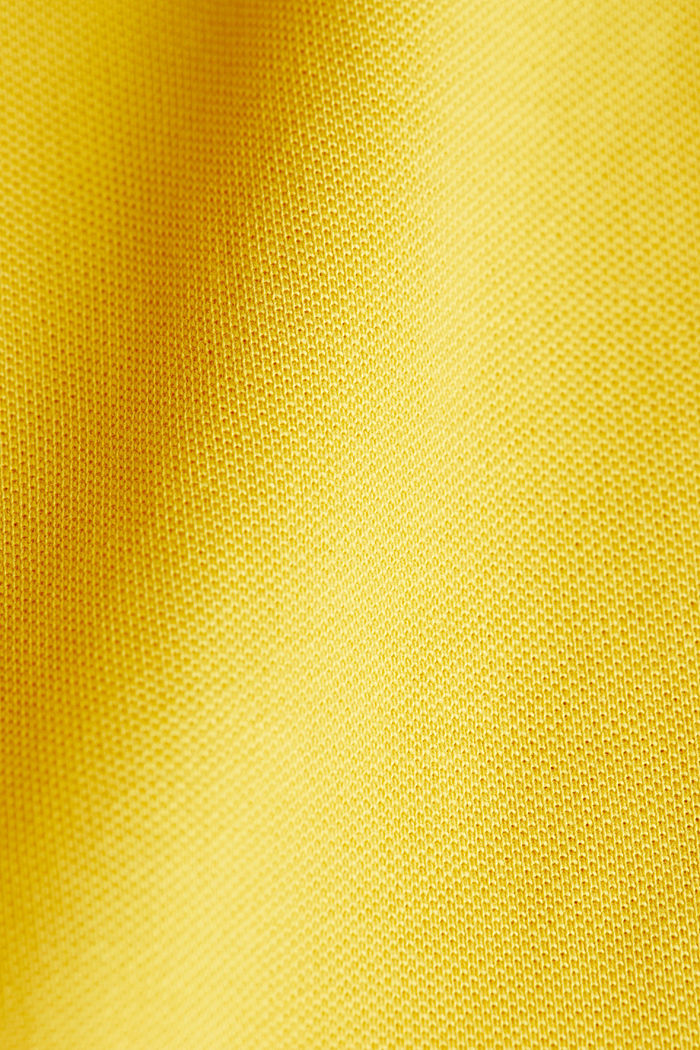 Piqué polo shirt made of 100% organic cotton, YELLOW, detail image number 4