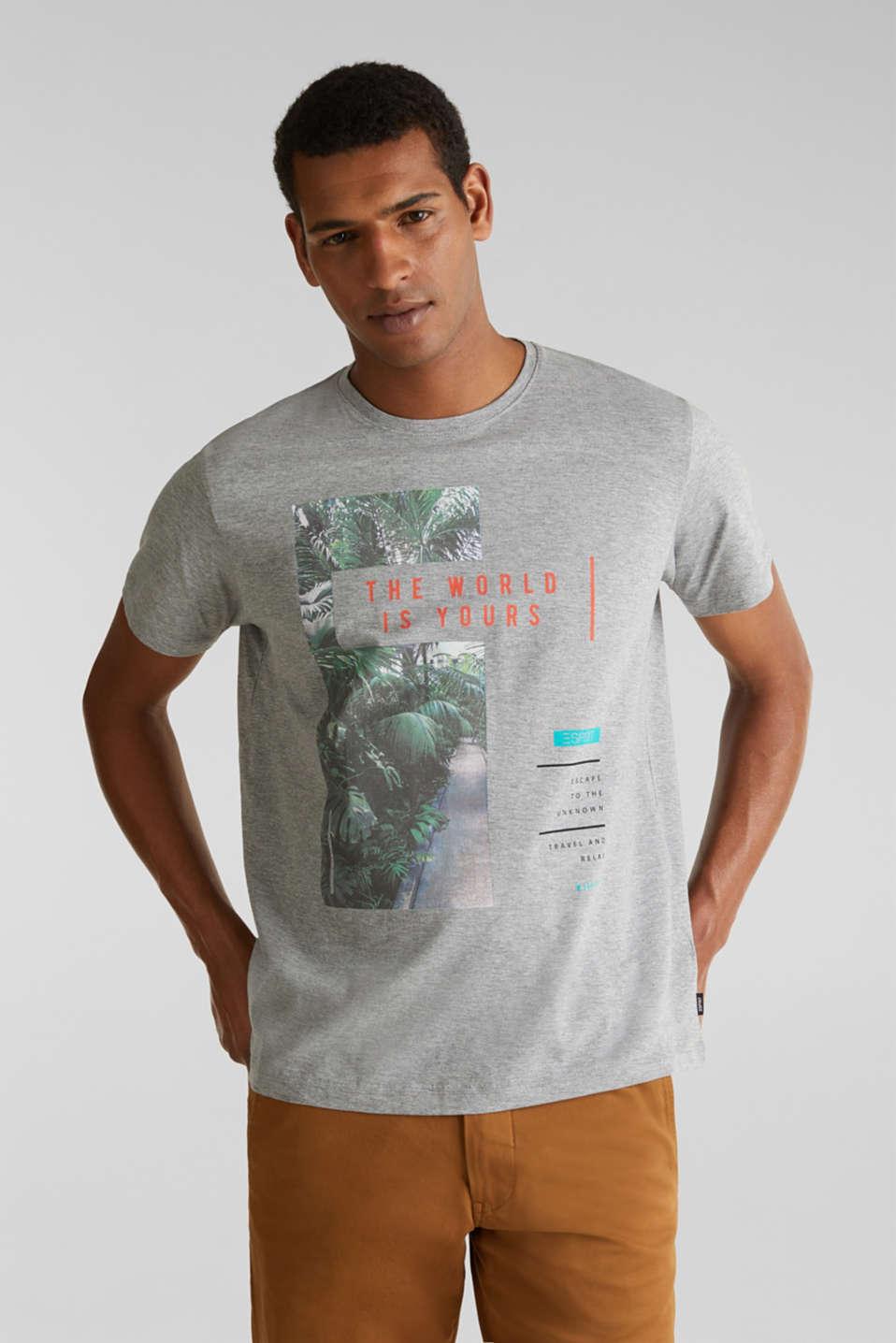 Melange printed jersey T-shirt, MEDIUM GREY 5, detail image number 0