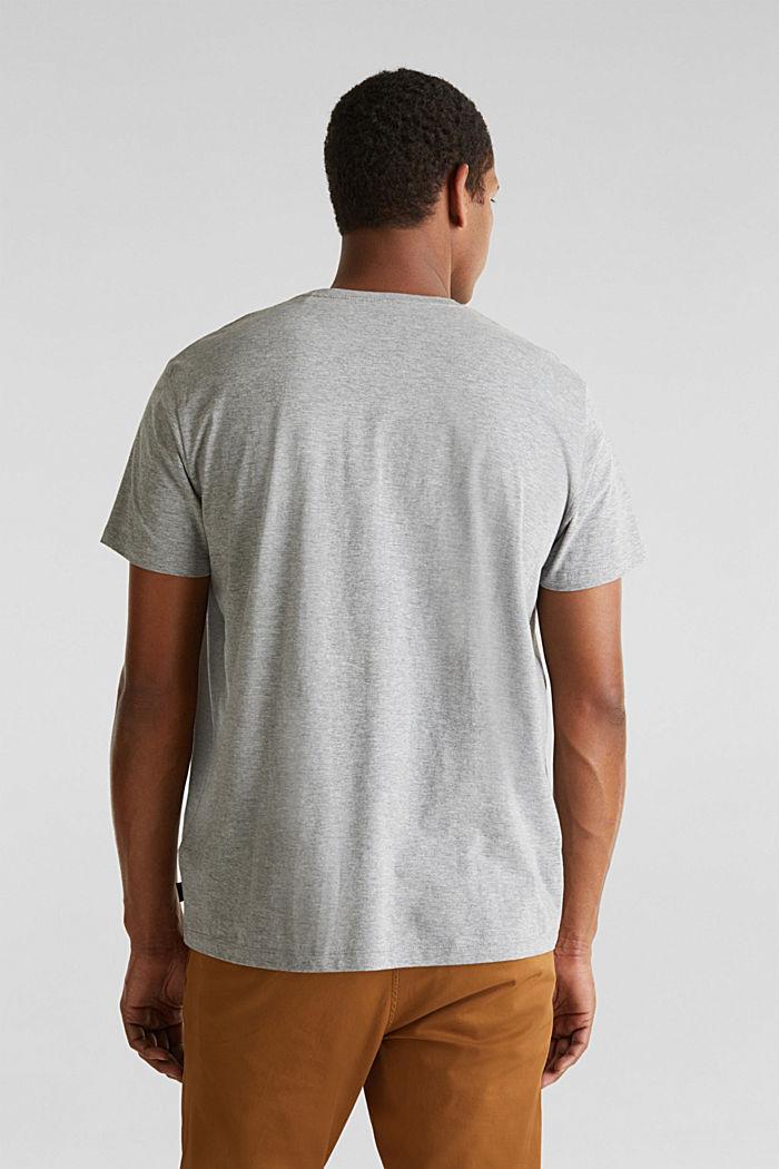 Gemêleerd jersey shirt met print, MEDIUM GREY, detail image number 3