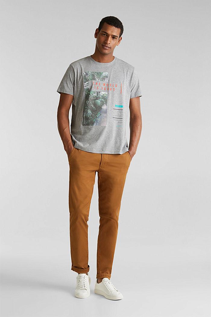 Gemêleerd jersey shirt met print, MEDIUM GREY, detail image number 6