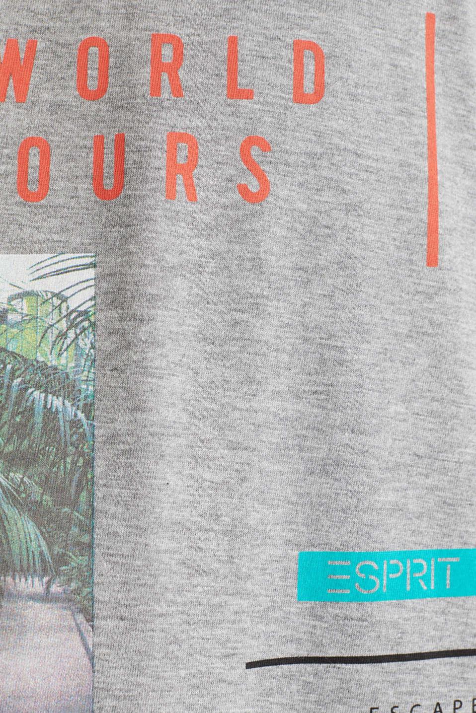 Melange printed jersey T-shirt, MEDIUM GREY 5, detail image number 4