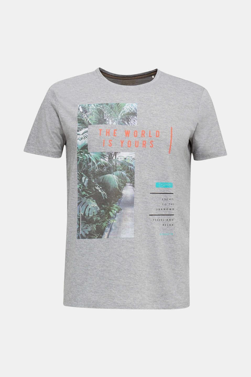 Melange printed jersey T-shirt, MEDIUM GREY 5, detail image number 7