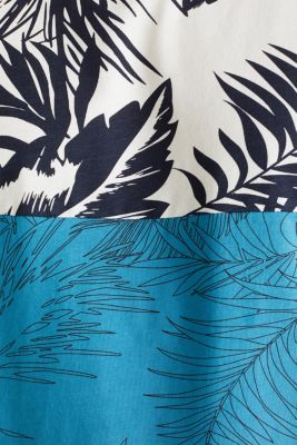 Colour block jersey T-shirt with a palm tree print, PETROL BLUE 3, detail