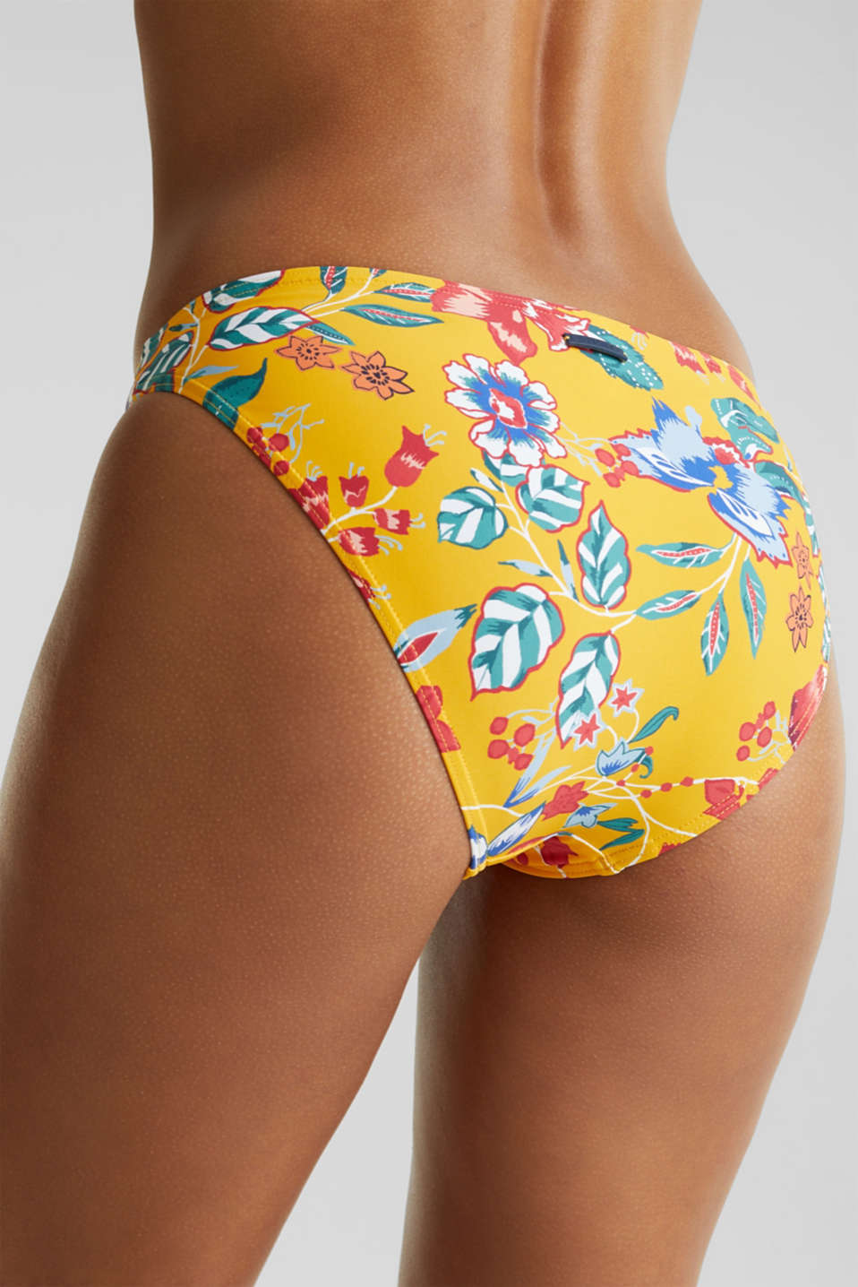 Mini briefs with a floral print, SUNFLOWER YELLOW, detail image number 3