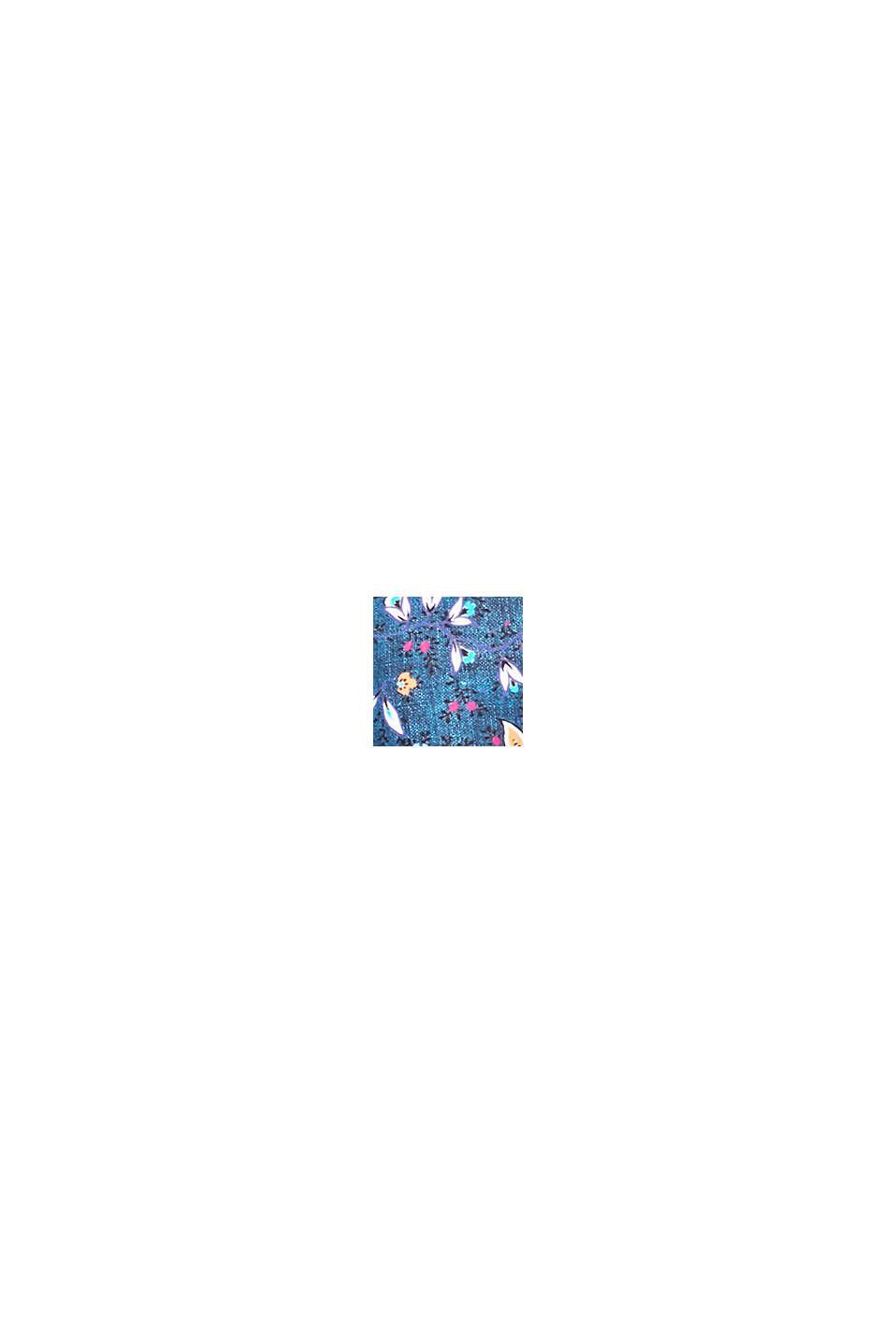 Ovadderad bygelöverdel med rysch, GREY BLUE, swatch