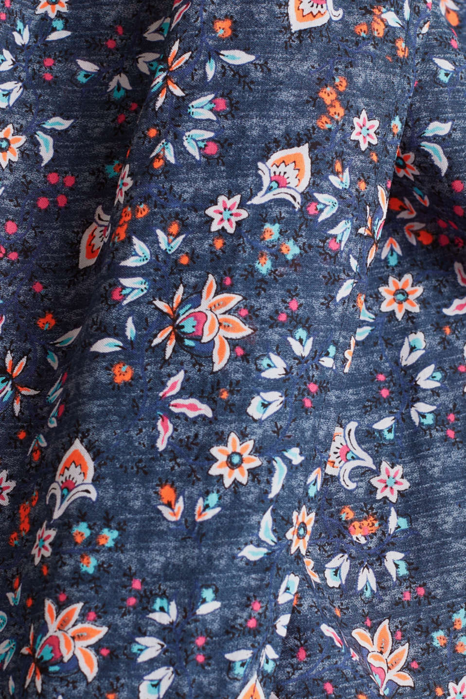 Gesmoktes Kleid mit High-Low-Saum, GREY BLUE, detail image number 4