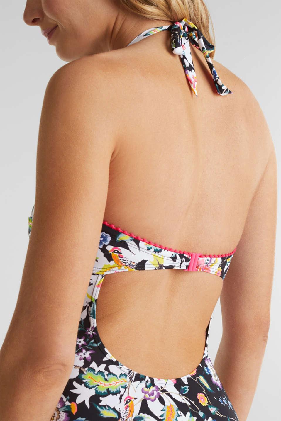Padded printed swimsuit, BLACK, detail image number 3