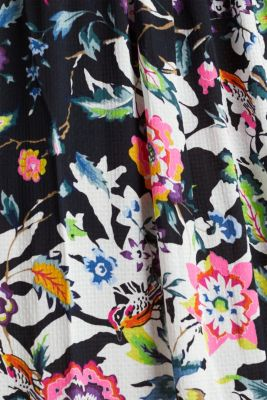Maxi dress with a floral print, BLACK, detail