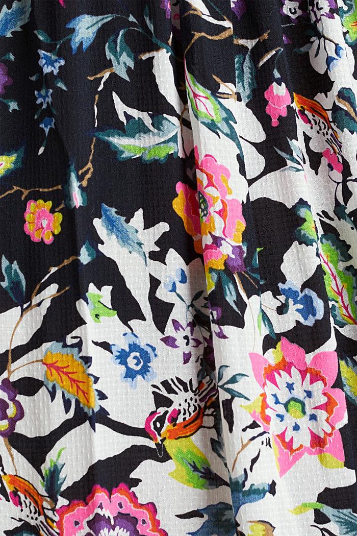 Lang kjole med blomsterprint, BLACK, detail image number 5