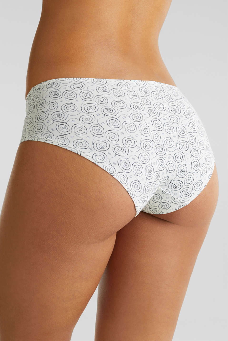 Hipster briefs with a pixel print, OFF WHITE, detail image number 3