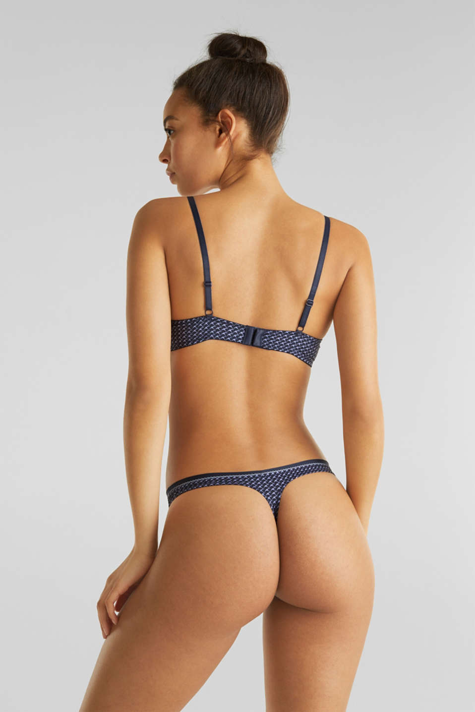 Hipster thong with print, NAVY 2, detail image number 2