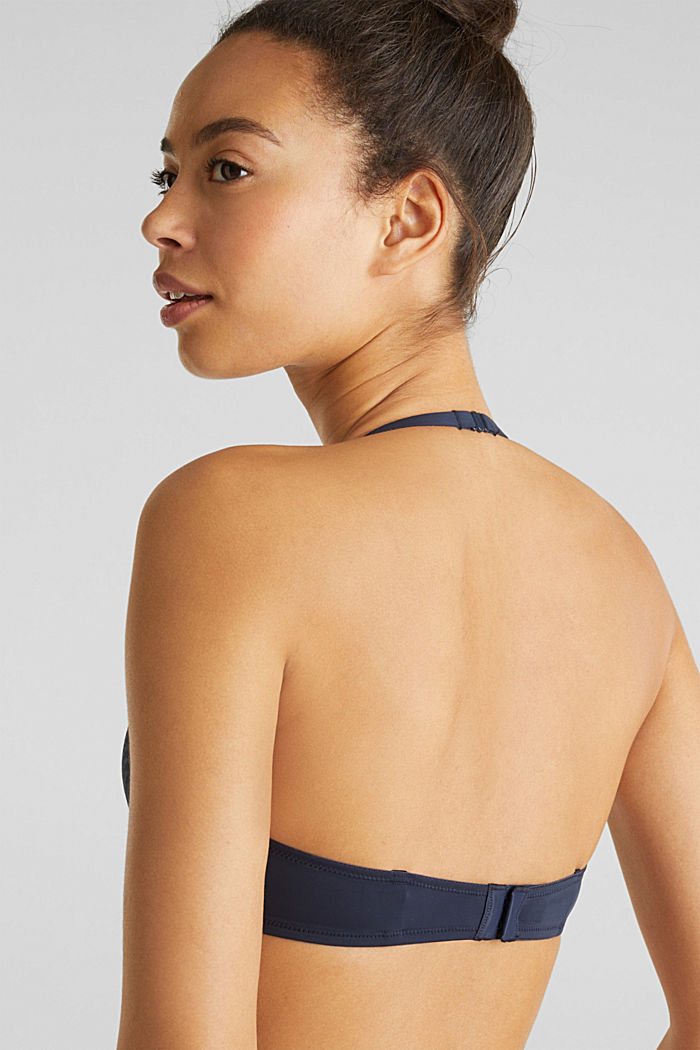 Push-up bra with wavy lace, NAVY, detail image number 3