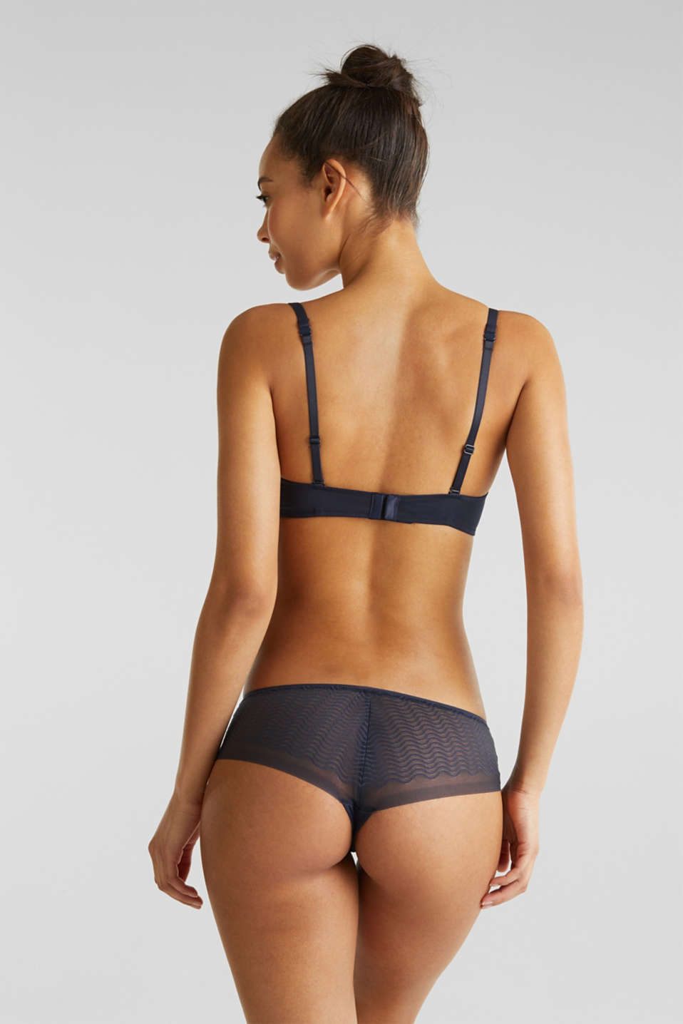 Padded, underwire bra with multi-way straps, NAVY 2, detail image number 1