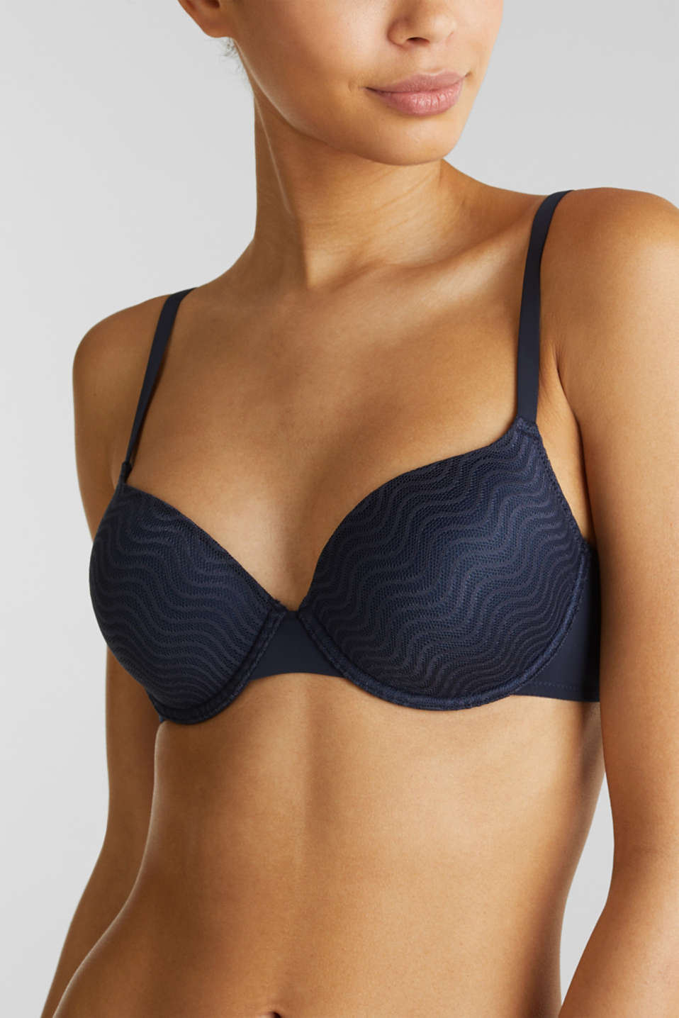 Padded, underwire bra with multi-way straps, NAVY 2, detail image number 3