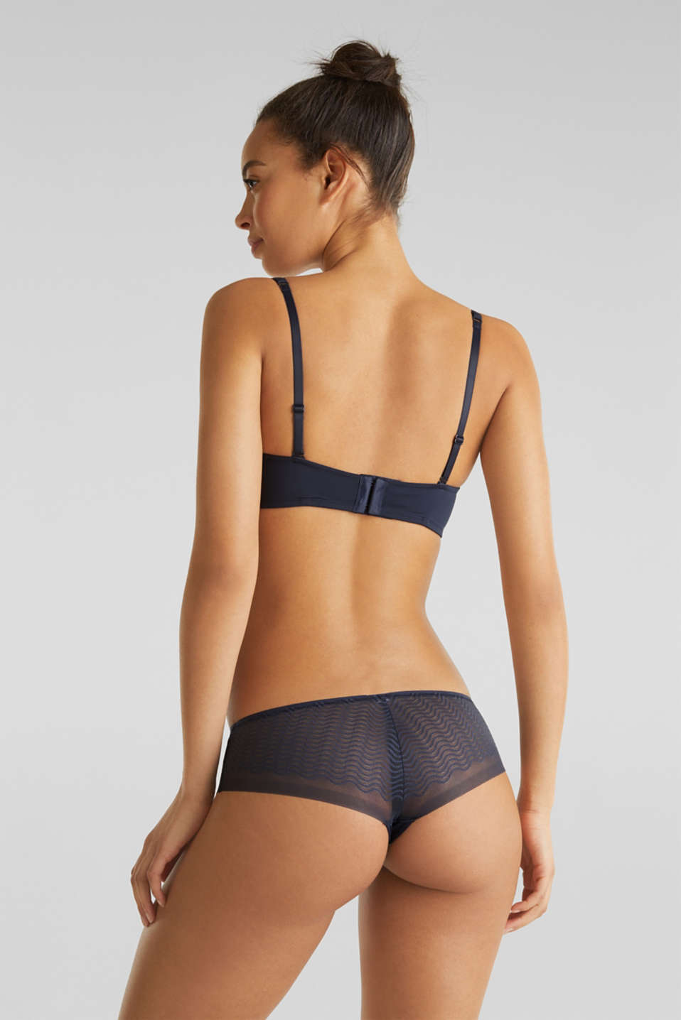 Padded underwire bra with detachable straps, NAVY 2, detail image number 1