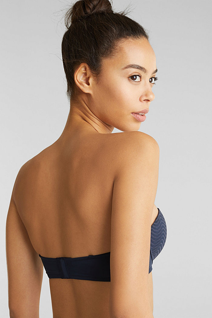 Padded underwire bra with detachable straps, NAVY, detail image number 3
