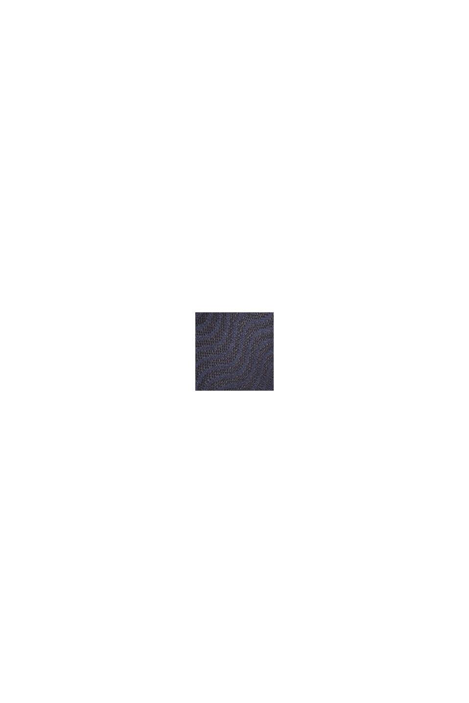 Unwattiertes Bügel-Top aus wellenförmiger Spitze, NAVY, swatch