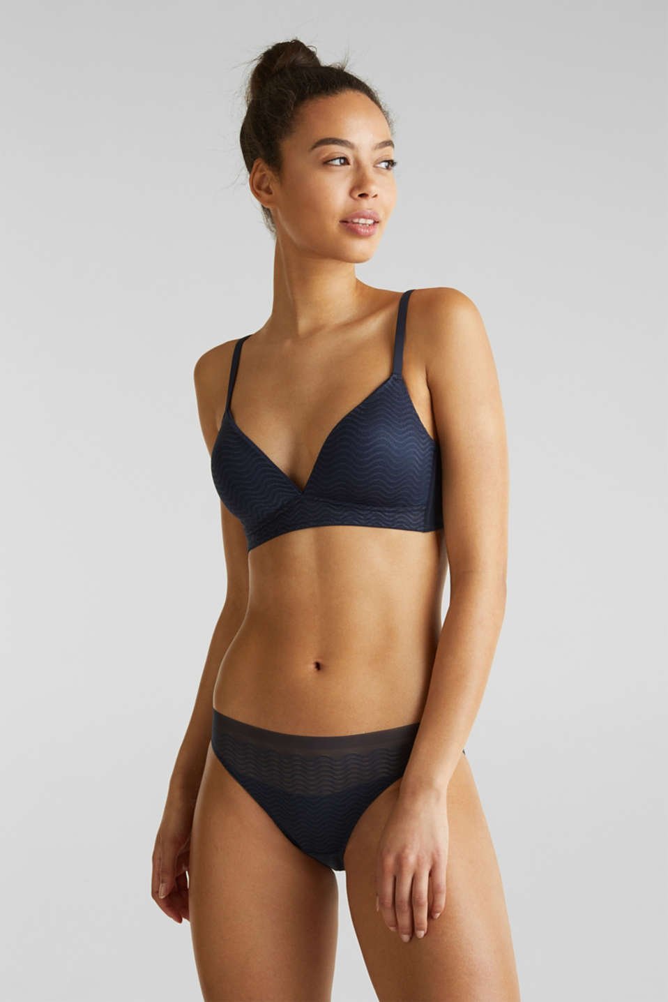 Esprit - Padded non-wired bra made of modern lace