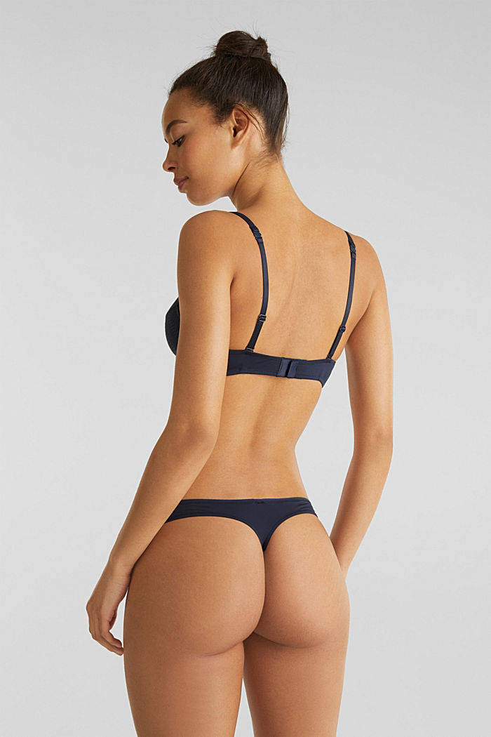Hipster thong made of wavy lace, NAVY, detail image number 1