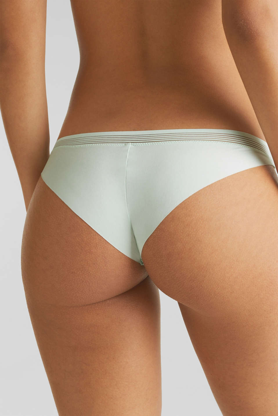 Hipster briefs with sheer stripes, LIGHT AQUA GREEN, detail image number 3
