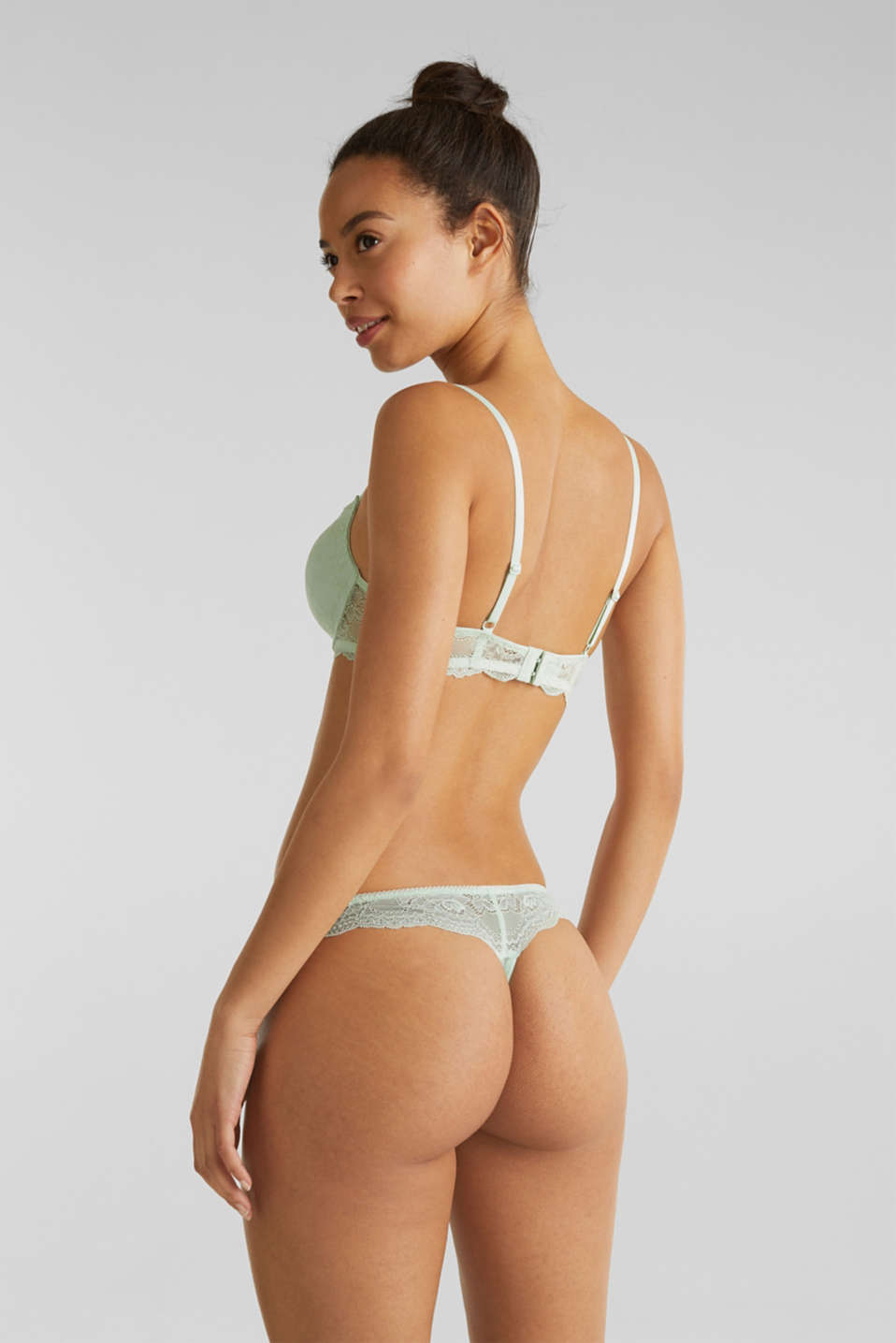 Lace hipster thong, LIGHT AQUA GREEN, detail image number 2