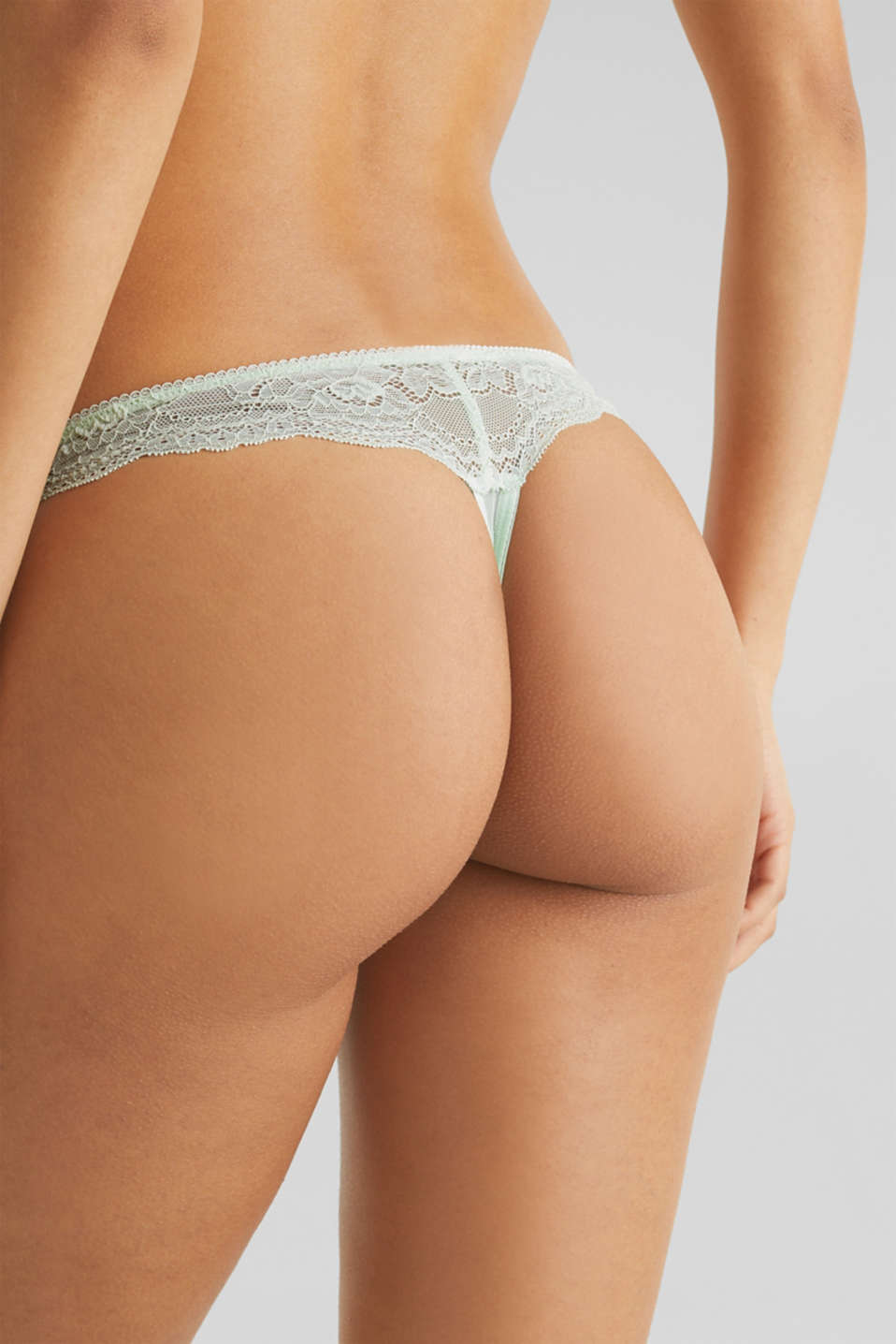 Lace hipster thong, LIGHT AQUA GREEN, detail image number 3