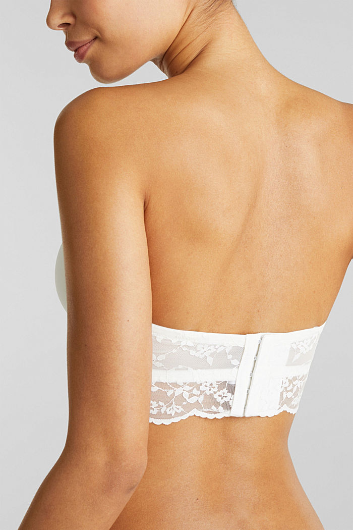Underwire bra with detachable straps, OFF WHITE, detail image number 4