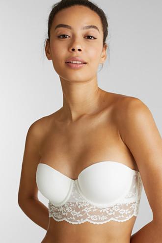 Underwire bra with detachable straps