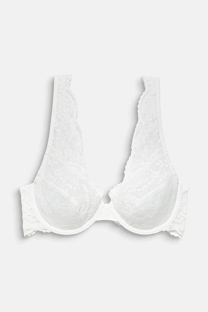 Ongewatteerde beugel-bh van kant, OFF WHITE, detail image number 4