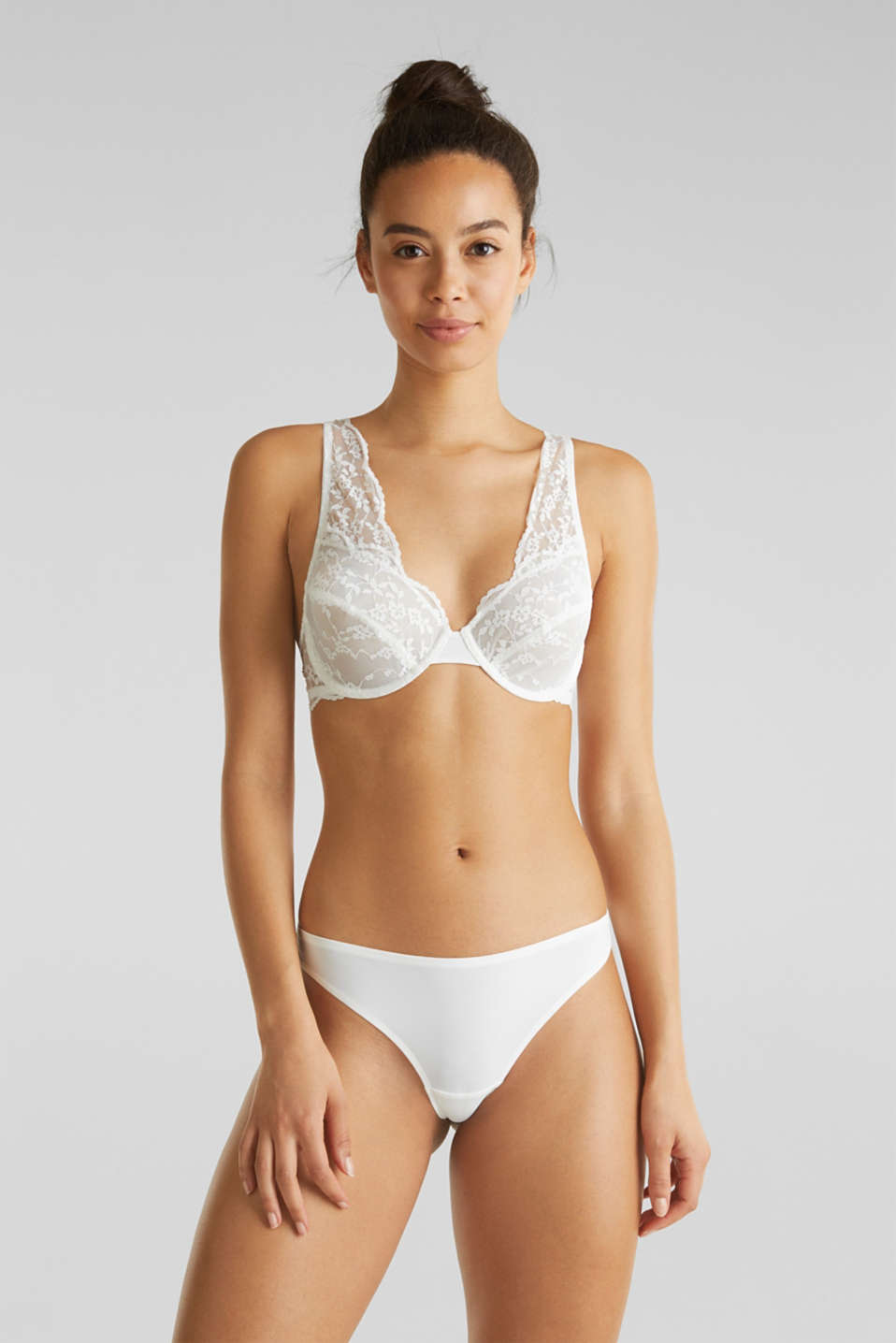 Lace hipster thong, OFF WHITE, detail image number 0