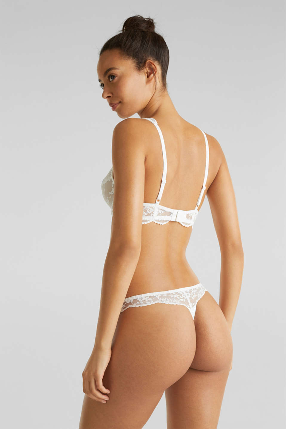 Lace hipster thong, OFF WHITE, detail image number 2