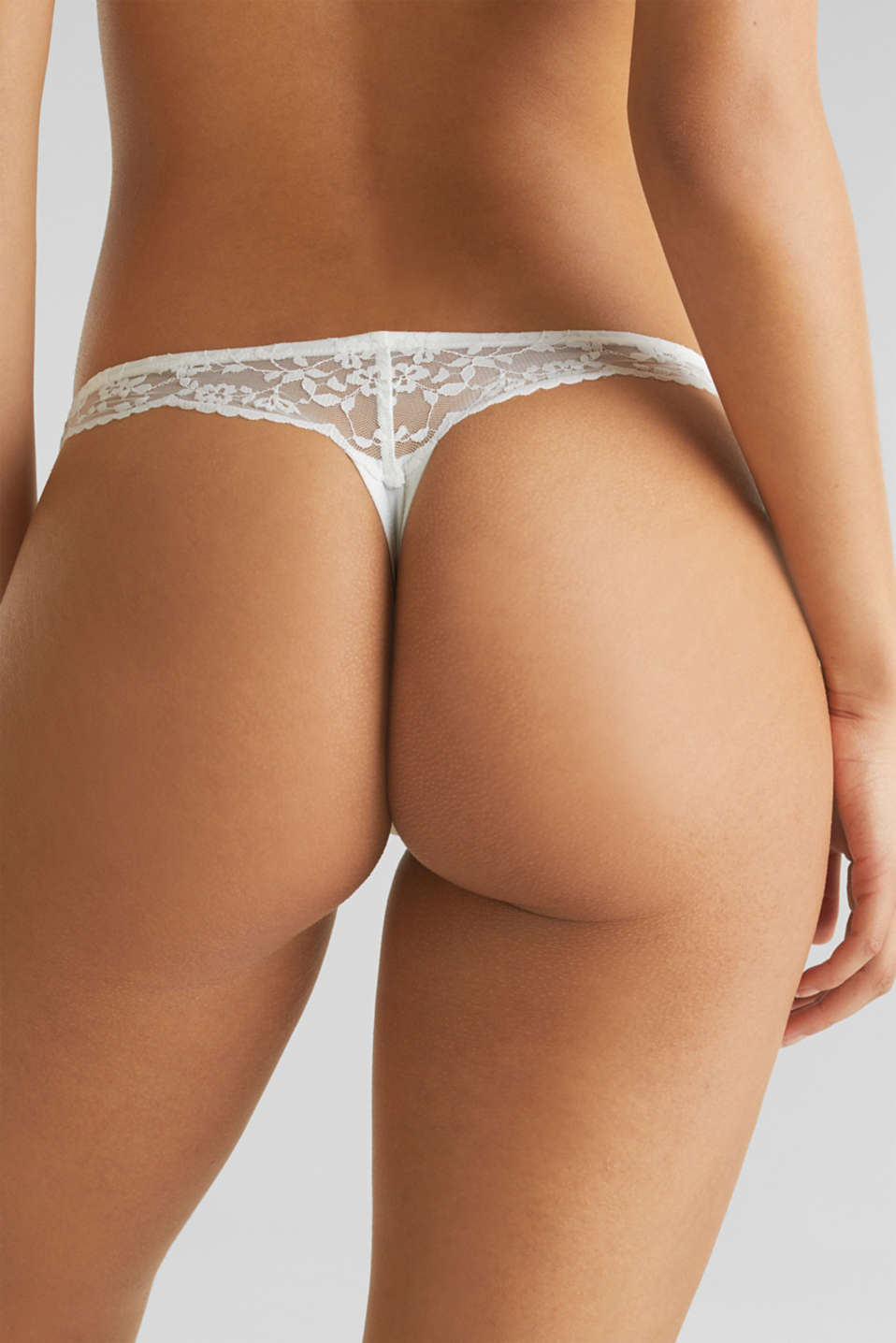 Lace hipster thong, OFF WHITE, detail image number 1